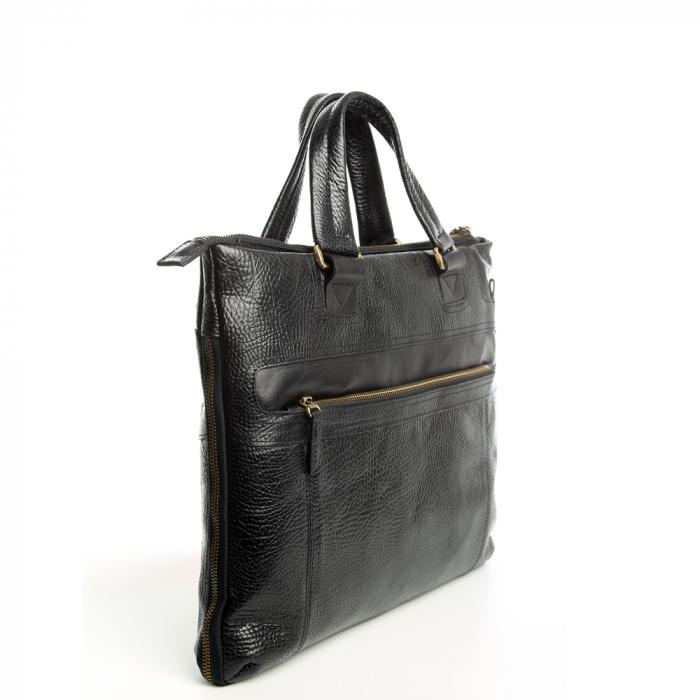 Geanta de laptop din piele naturala neagra Tony Bellucci T5120 [1]
