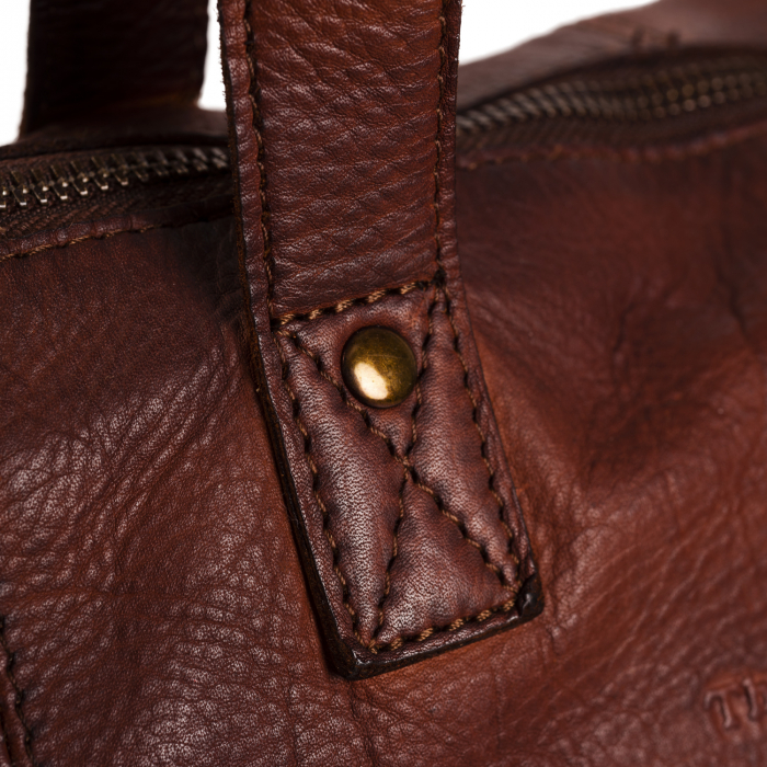 Geanta de laptop din piele naturala, The Chesterfield Brand, Adeline 12 inch, Maro coniac [4]