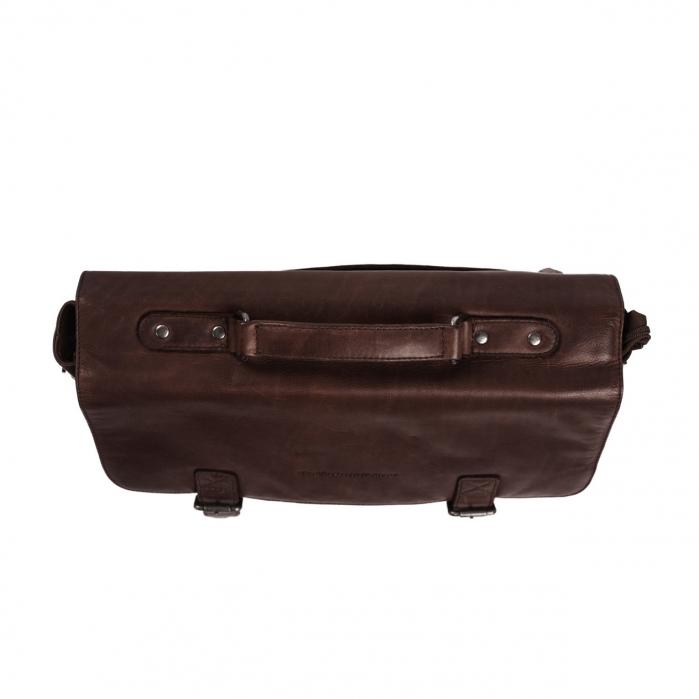 Geanta de laptop din piele naturala, The Chesterfield Brand, Belfast 15.6 inch, Maro inchis [2]
