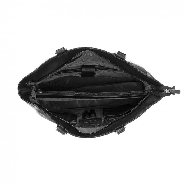 Geanta de laptop din piele naturala, The Chesterfield Brand, Berlin 15.4 inch, Negru [2]