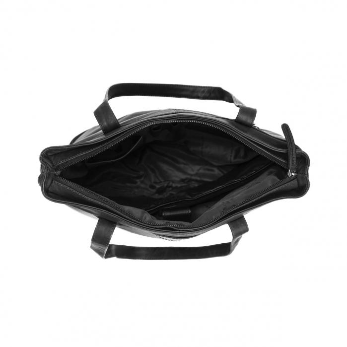 Geanta de laptop din piele naturala, The Chesterfield Brand, Bonn 14 inch, Negru [2]