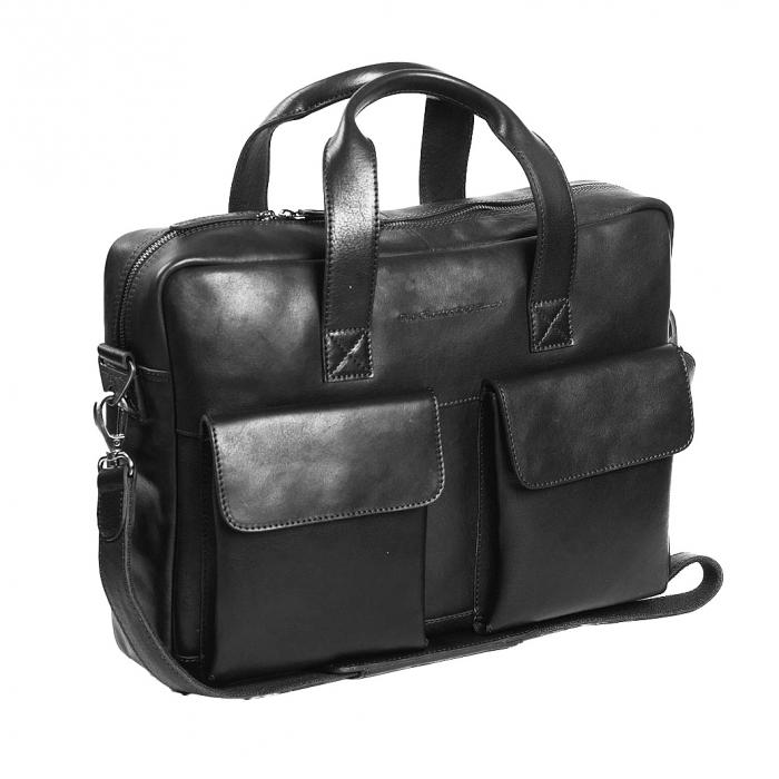 Geanta de laptop din piele naturala, The Chesterfield Brand, Ethan 15.6 inch, Negru [0]