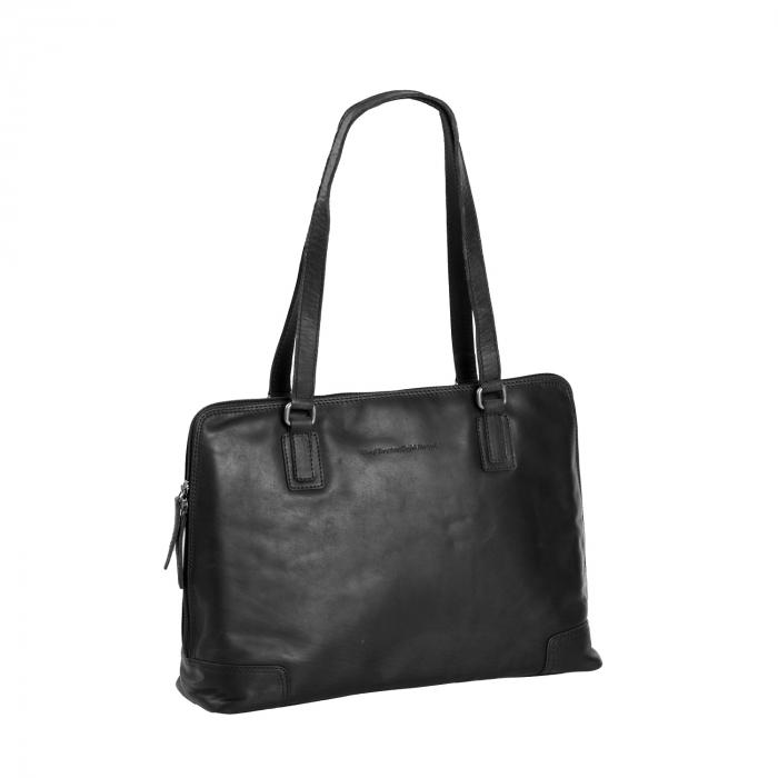 Geanta de laptop din piele naturala, The Chesterfield Brand, Flint 13 inch, Negru [0]