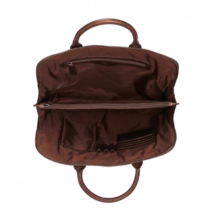 Geanta de laptop din piele naturala, The Chesterfield Brand, Harvey 14 inch, Maro inchis [2]