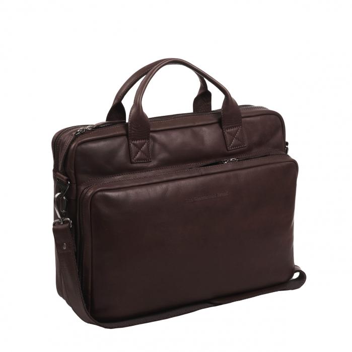 Geanta de laptop din piele naturala, The Chesterfield Brand, Jackson 15.6 inch, Maro inchis [0]