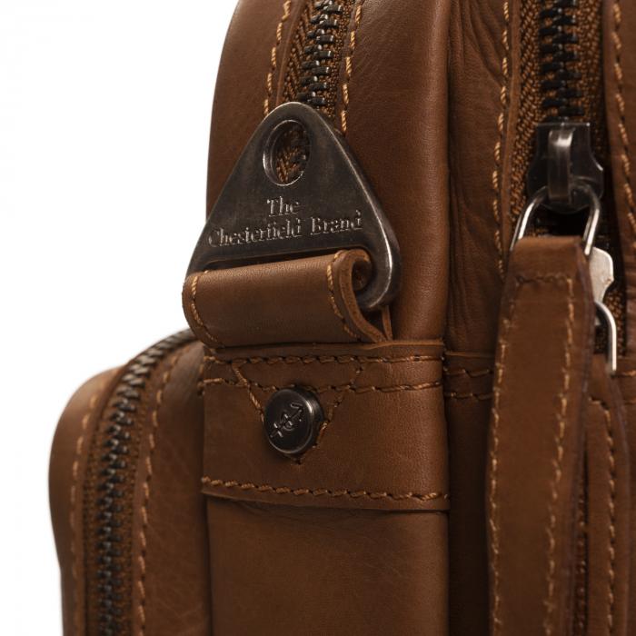 Geanta de laptop din piele naturala, The Chesterfield Brand, Jackson 15.6 inch, Maro coniac [4]
