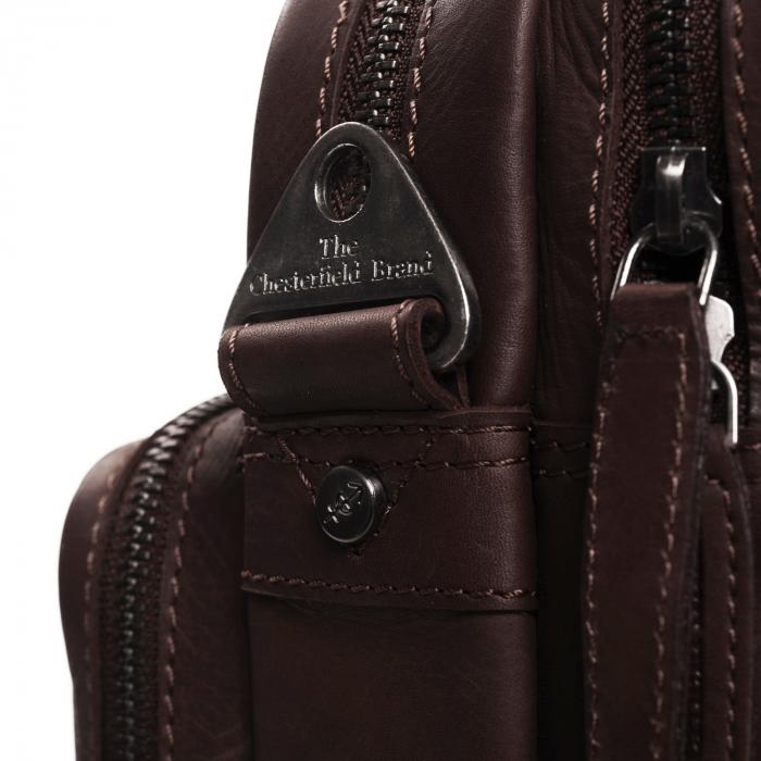 Geanta de laptop din piele naturala, The Chesterfield Brand, Jackson 15.6 inch, Maro inchis [3]