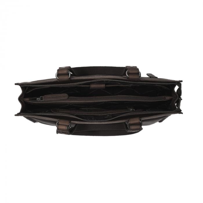 Geanta de laptop din piele naturala, The Chesterfield Brand, Lima, 15 inch, Maro inchis [1]