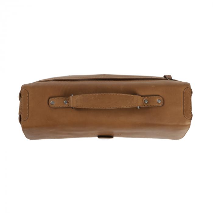 Geanta de laptop din piele naturala, The Chesterfield Brand, Linz 15.6 inch, Maro coniac [3]