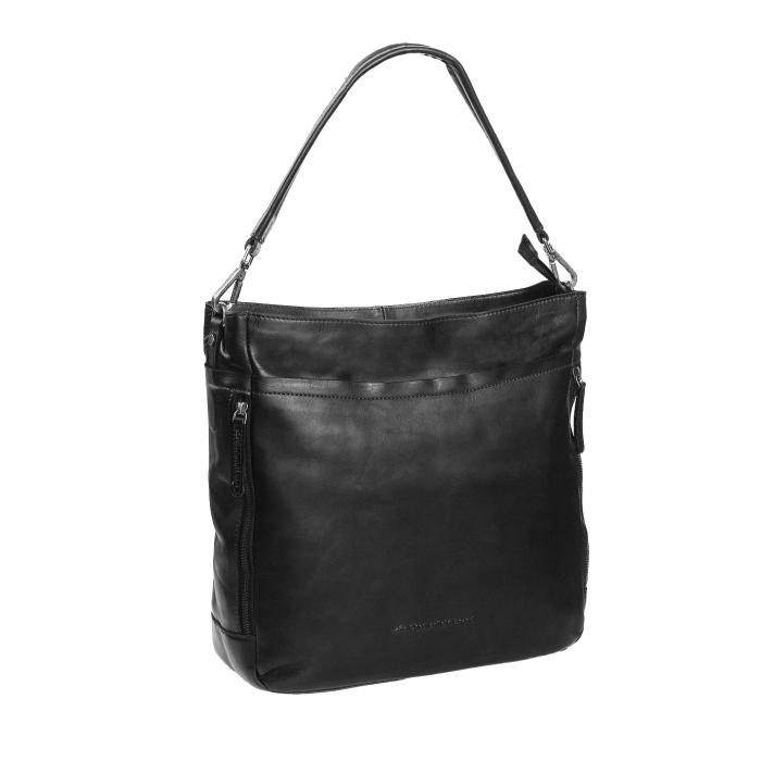 Geanta de laptop din piele naturala, The Chesterfield Brand, Lizzy 13 inch, Negru [0]