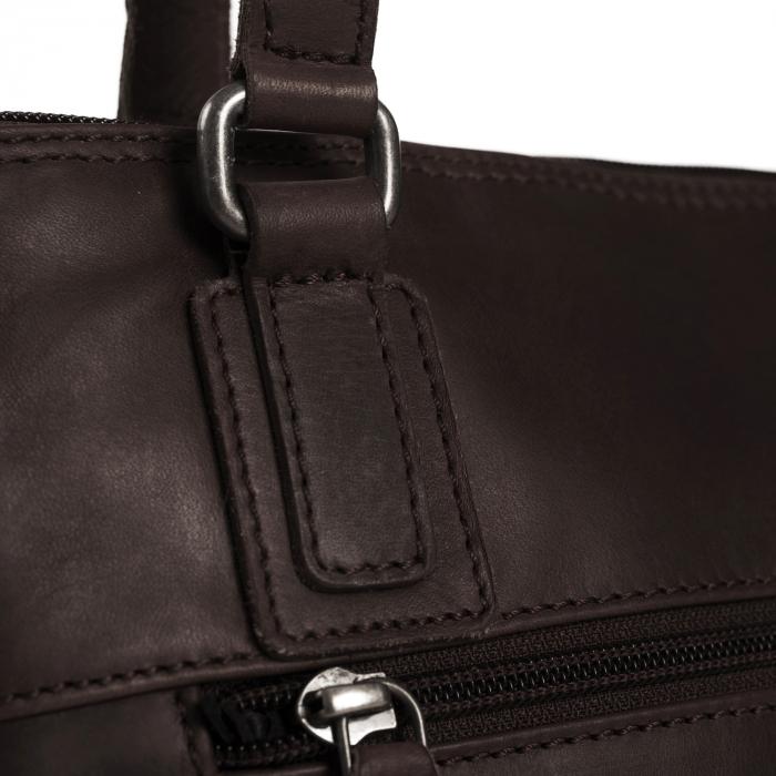 Geanta de laptop din piele naturala, The Chesterfield Brand, Manon, 14 inch, Negru [9]