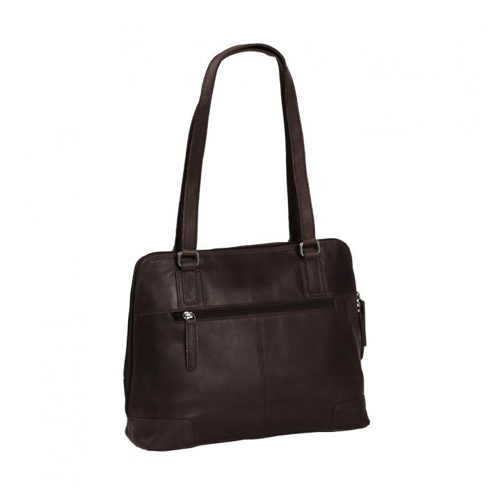 Geanta de laptop din piele naturala, The Chesterfield Brand, Manon, 14 inch, Negru [6]