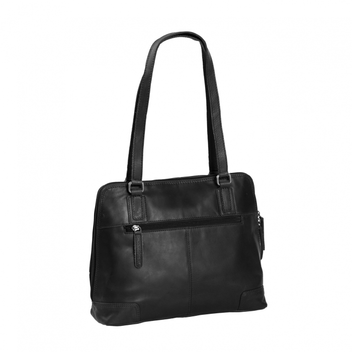Geanta de laptop din piele naturala, The Chesterfield Brand, Manon, 14 inch, Negru [4]