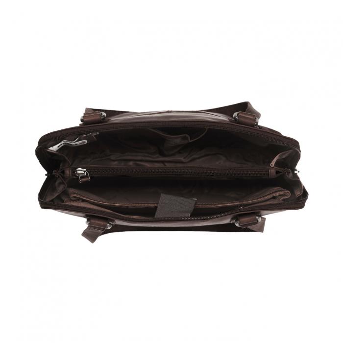 Geanta de laptop din piele naturala, The Chesterfield Brand, Manon, 14 inch, Negru [8]