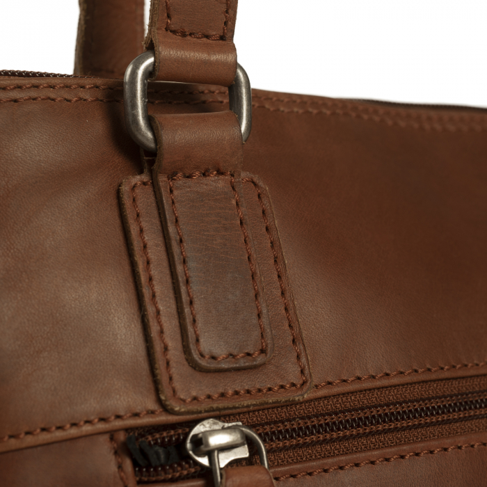 Geanta de laptop din piele naturala, The Chesterfield Brand, Manon, 14 inch, Negru [14]