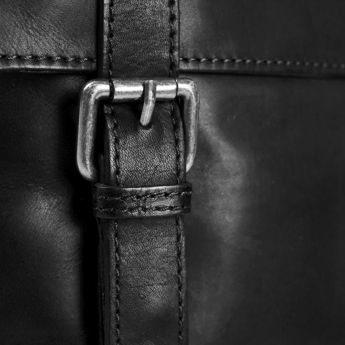 Geanta de umar din piele naturala, The Chesterfield Brand, Bay, Negru [3]