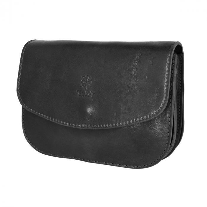 Geanta de umar, din piele vachetta neagra tip tolba S5510 [8]