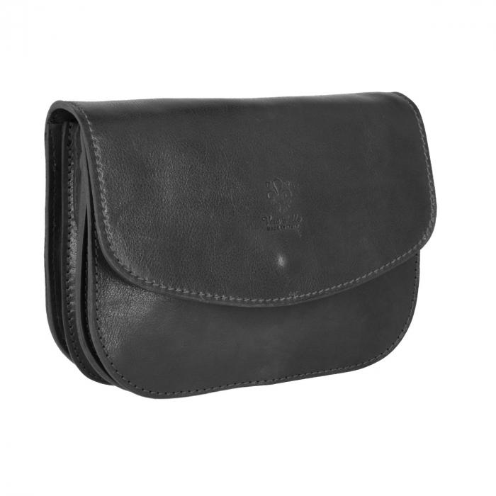 Geanta de umar, din piele vachetta neagra tip tolba S5510 [0]