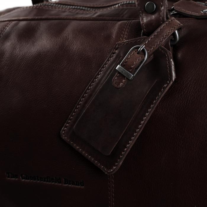 Geanta de voiaj unisex The Chesterfield Brand, din piele moale maro, William [5]