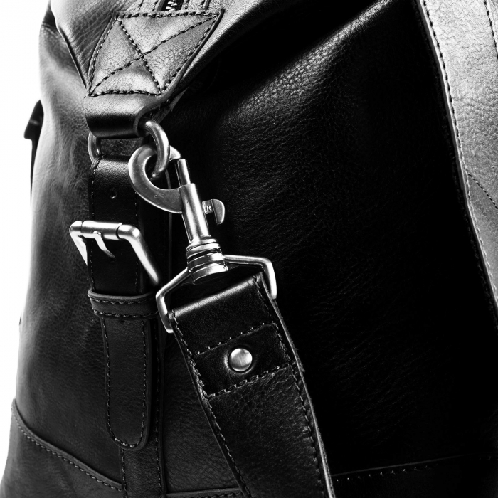Geanta de voiaj unisex The Chesterfield Brand, din piele moale neagra, Caleb [4]