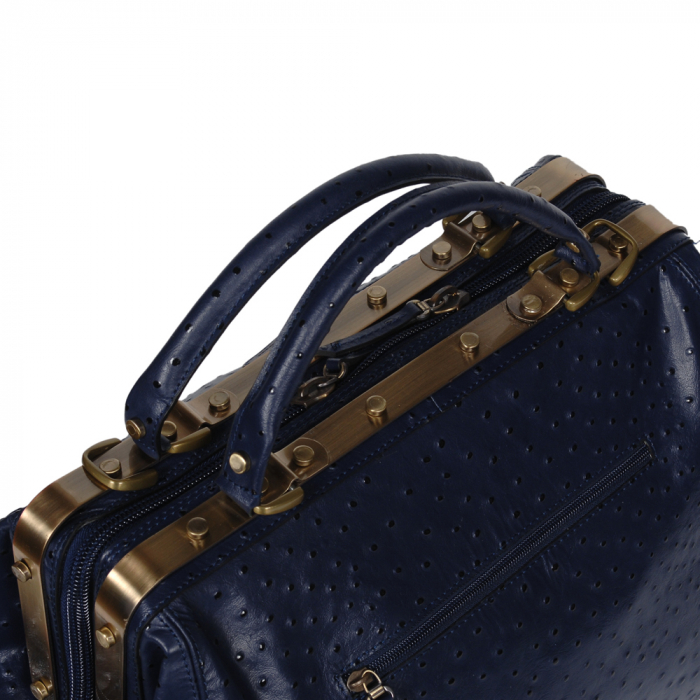 Geanta din piele naturala bleumarin Tony Bellucci, T5010 model 3