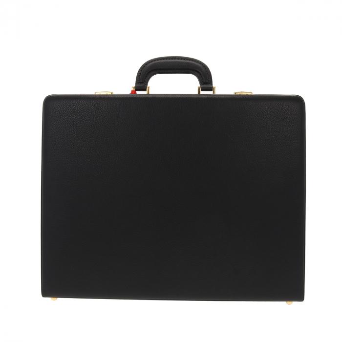 Geanta diplomat  pentru barbati, din piele naturala neagra, model Eminsa 6162 4
