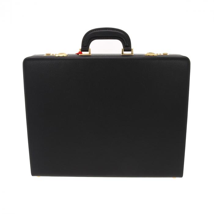 Geanta diplomat  pentru barbati, din piele naturala neagra, model Eminsa 6162 1