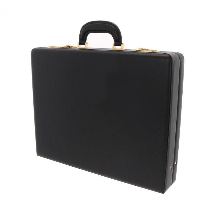 Geanta diplomat  pentru barbati, din piele naturala neagra, model Eminsa 6162 3
