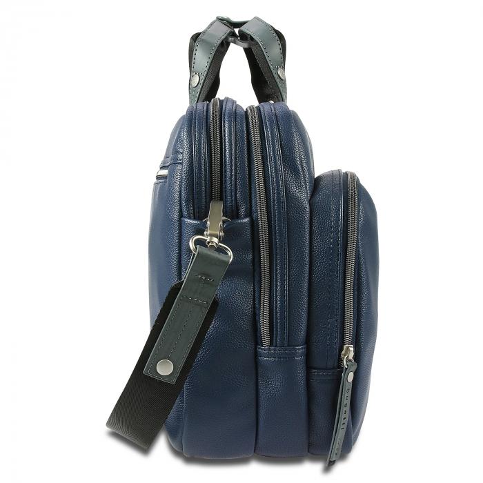 Geanta laptop 13 inch Bugatti Moto D, pentru barbati, bleumarin [2]