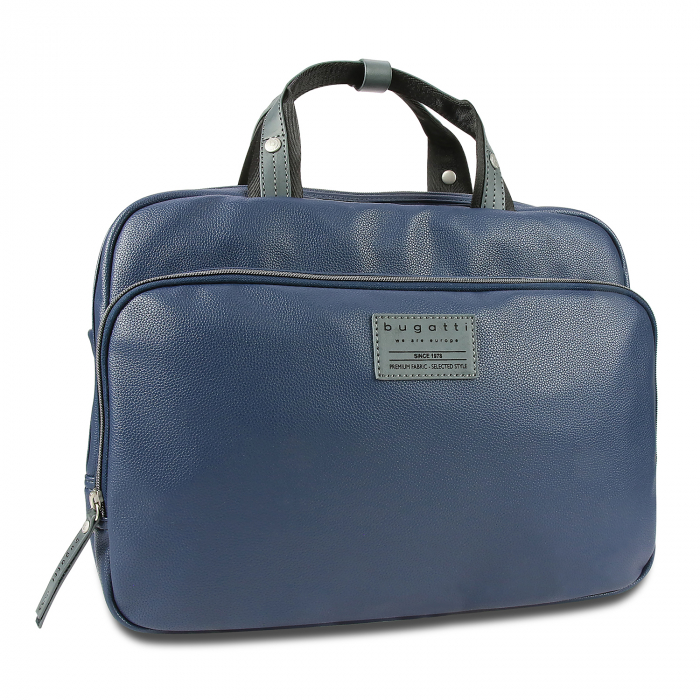Geanta laptop 13 inch Bugatti Moto D, pentru barbati, bleumarin [0]
