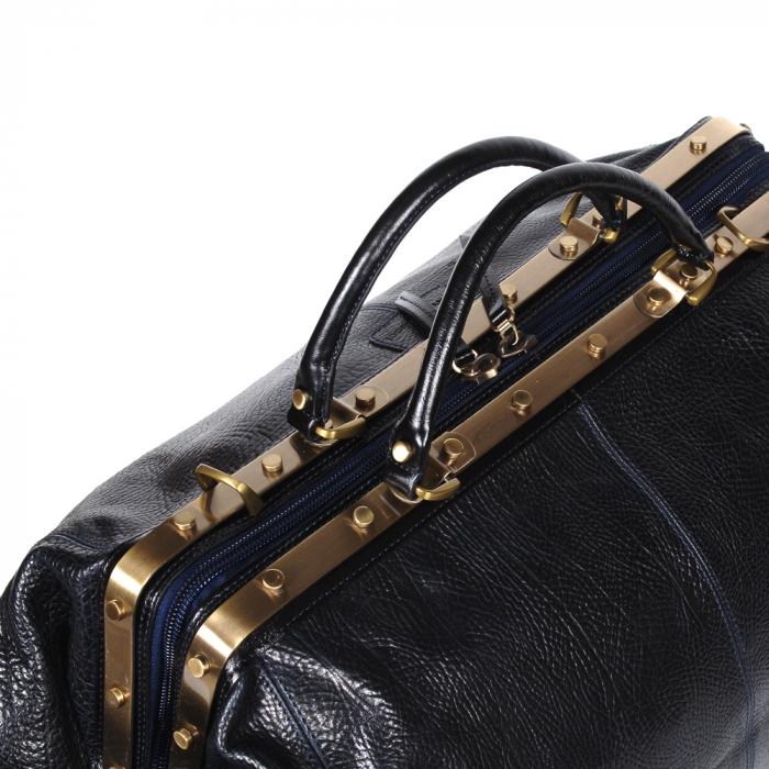 Geanta mare de calatorie din piele naturala neagra Tony Bellucci, T5012 model 3