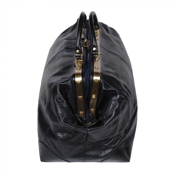 Geanta mare de calatorie din piele naturala neagra Tony Bellucci, T5012 model 2