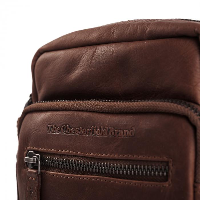 Geanta mica de barbati, The Chesterfield Brand, din piele moale, Bremen, Maro inchis [5]