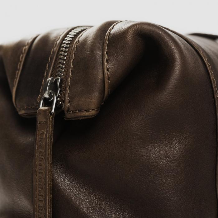 Geanta pentru cosmetice The Chesterfield Brand, din piele naturala, Vince, Maro inchis [3]
