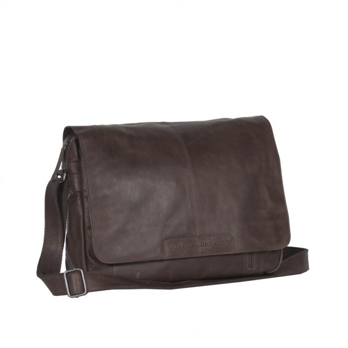 Geanta pentru laptop din piele naturala, The Chesterfield Brand, Richard 15.4 inch, Maro inchis [0]