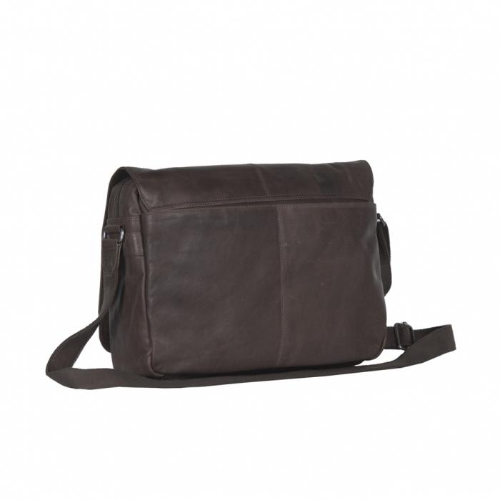 Geanta pentru laptop din piele naturala, The Chesterfield Brand, Richard 15.4 inch, Maro inchis [5]