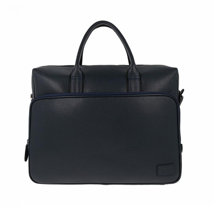 Geanta pentru laptop, tableta si acte din piele bleumarin, marca The Bond, model 1084 [4]