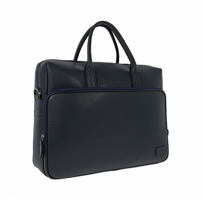 Geanta pentru laptop, tableta si acte din piele bleumarin, marca The Bond, model 1084 [0]