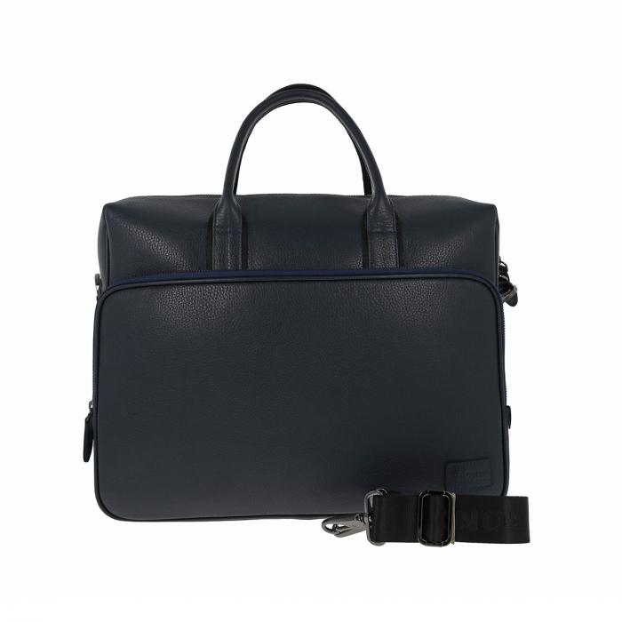 Geanta pentru laptop, tableta si acte din piele bleumarin, marca The Bond, model 1084 [2]