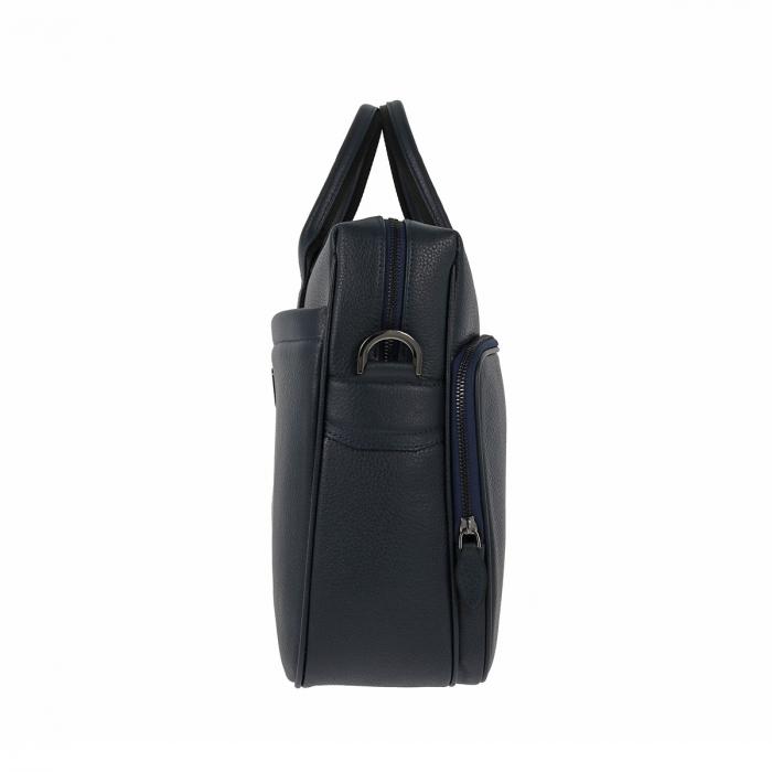 Geanta pentru laptop, tableta si acte din piele bleumarin, marca The Bond, model 1084 [1]