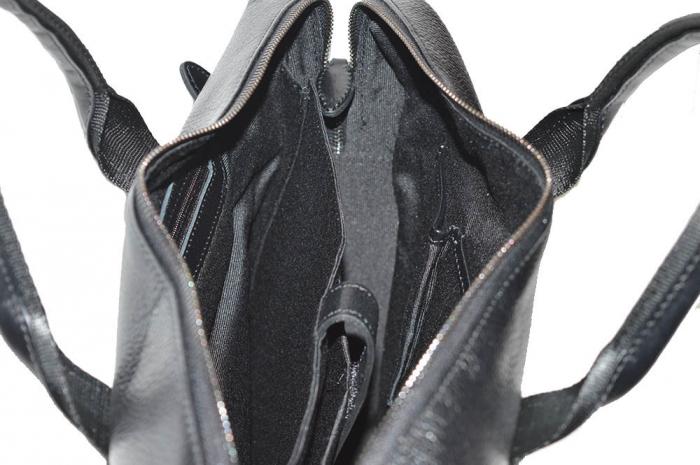 Geanta pentru laptop, tableta si acte din piele neagra, marca The Bond, model 1084 [4]