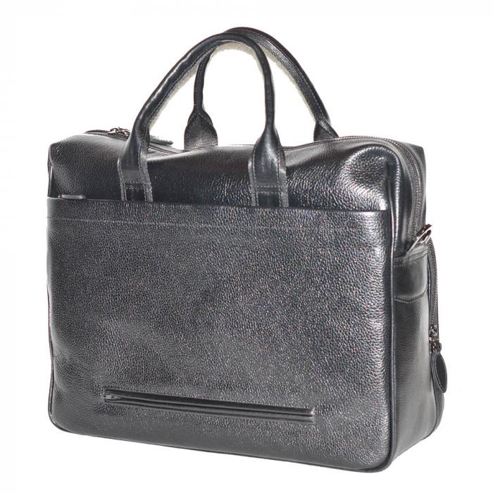 Geanta pentru laptop, tableta si acte din piele neagra, marca The Bond, model 1084 [2]