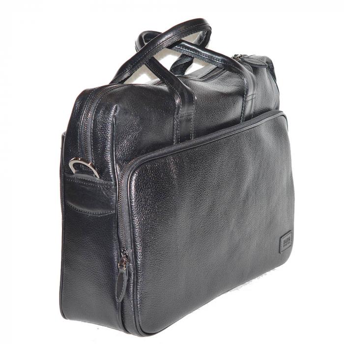 Geanta pentru laptop, tableta si acte din piele neagra, marca The Bond, model 1084 [3]
