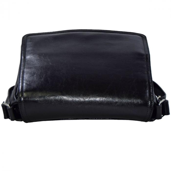 Geanta piele neagra,tip postas, dama casual 137 [5]