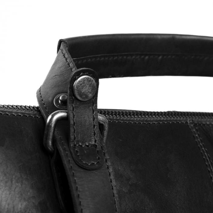 Geanta/rucsac pentru laptop de 14 inch, The Chesterfield Brand, din piele naturala, model Chelsea, Negru [5]