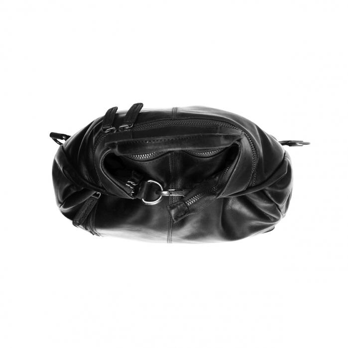 Geanta/rucsac pentru laptop, The Chesterfield Brand, din piele neagra, model Nuri [6]