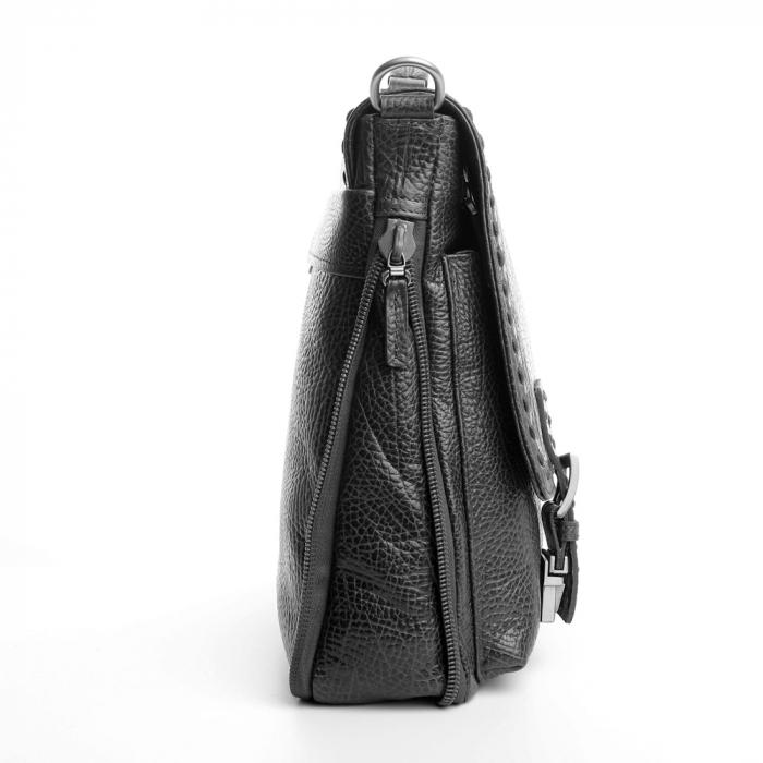 Geanta unisex din piele naturala neagra Tony Belucci T5009 [3]