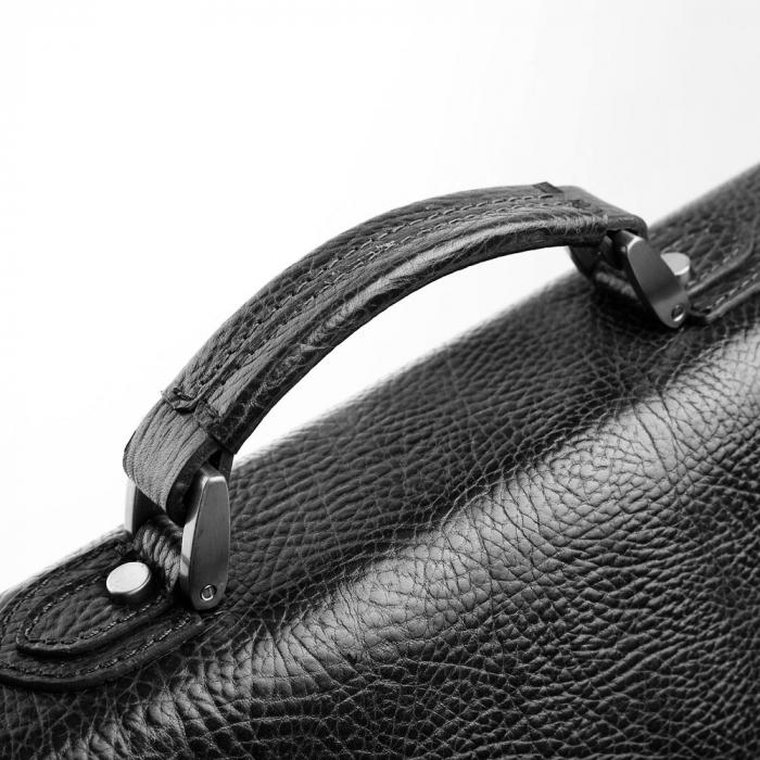 Geanta unisex din piele naturala neagra Tony Belucci T5009 [5]