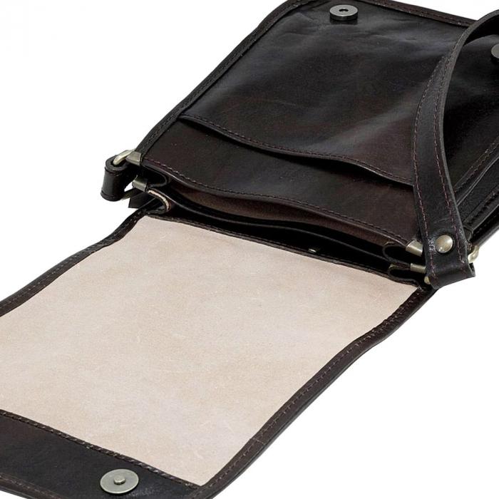 Gentuta unisex din piele naturala vachetta maro inchis S5552 [4]