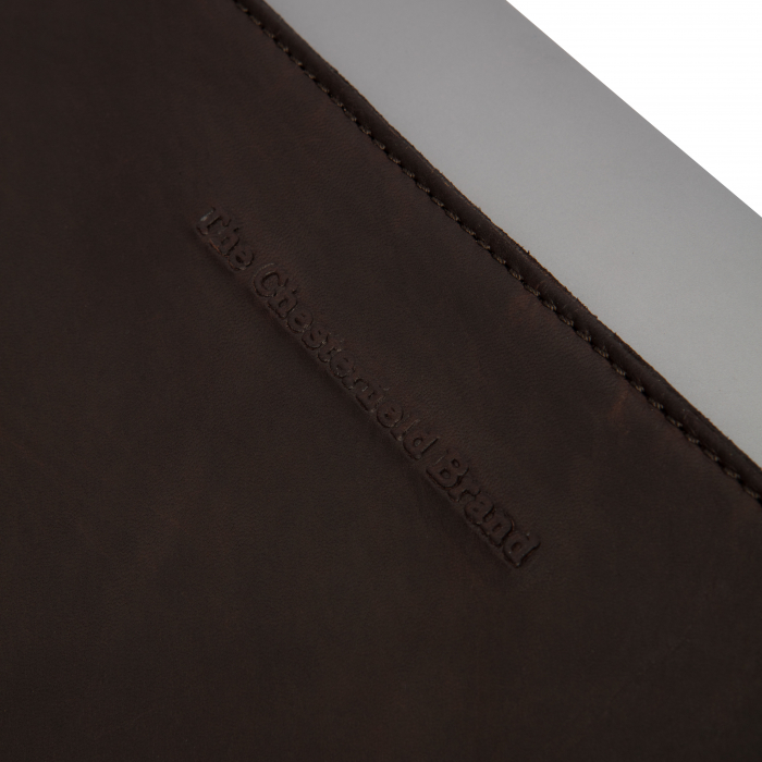 Husa pentru laptop din piele naturala, The Chesterfield Brand, Miami 15 inch, Maro inchis [4]